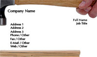 Carpentry Hammer Business Card Template